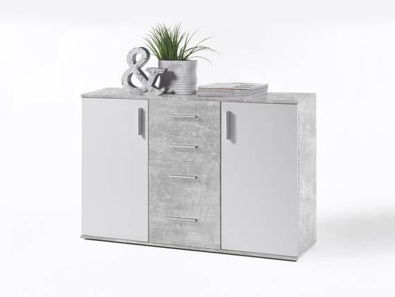 BANJO V Kommode, Material Dekorspanplatte, betongrau/weiss  DETAIL_IMAGE