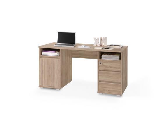 PANJO Schreibtisch, Material Dekorspanplatte Eiche sonomafarbig DETAIL_IMAGE