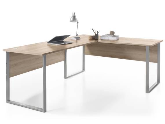 OFFICE DELUXE Winkelkombination, Material Dekorspanplatte, Eiche sonomafarbig  DETAIL_IMAGE