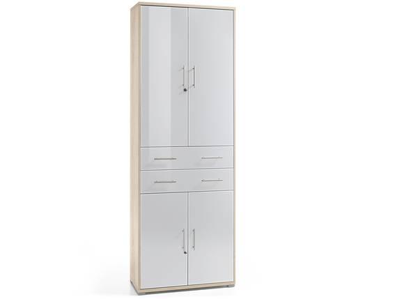 OFFIXE DELUXE Büroschrank, Material Dekorspanplatte/Glas, Eiche sonomafarbig/weiss  DETAIL_IMAGE