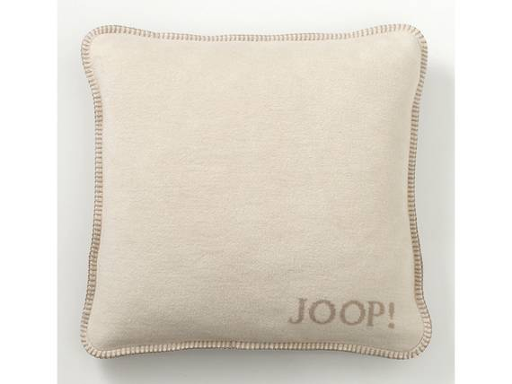 JOOP! Uni-Doubleface Kissen mit Füllung beige DETAIL_IMAGE