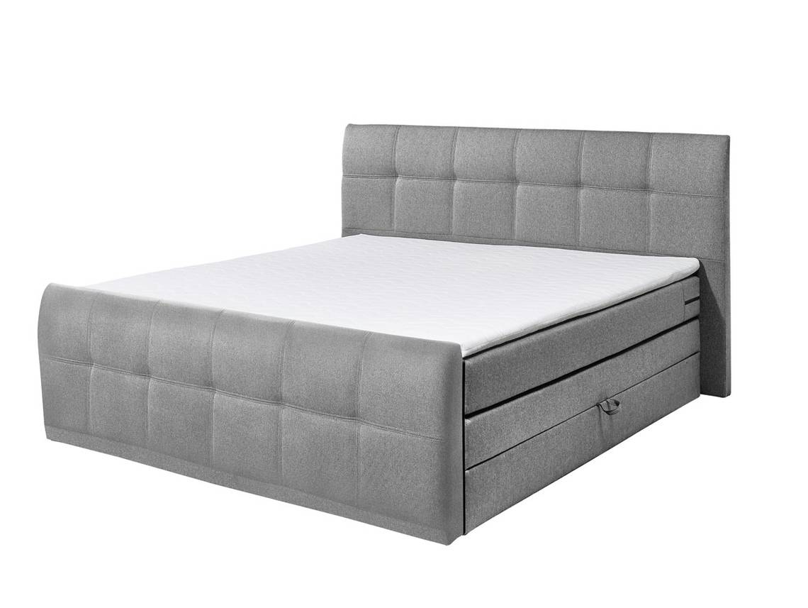 boxspringbett samara 180x200 cm grau. Black Bedroom Furniture Sets. Home Design Ideas