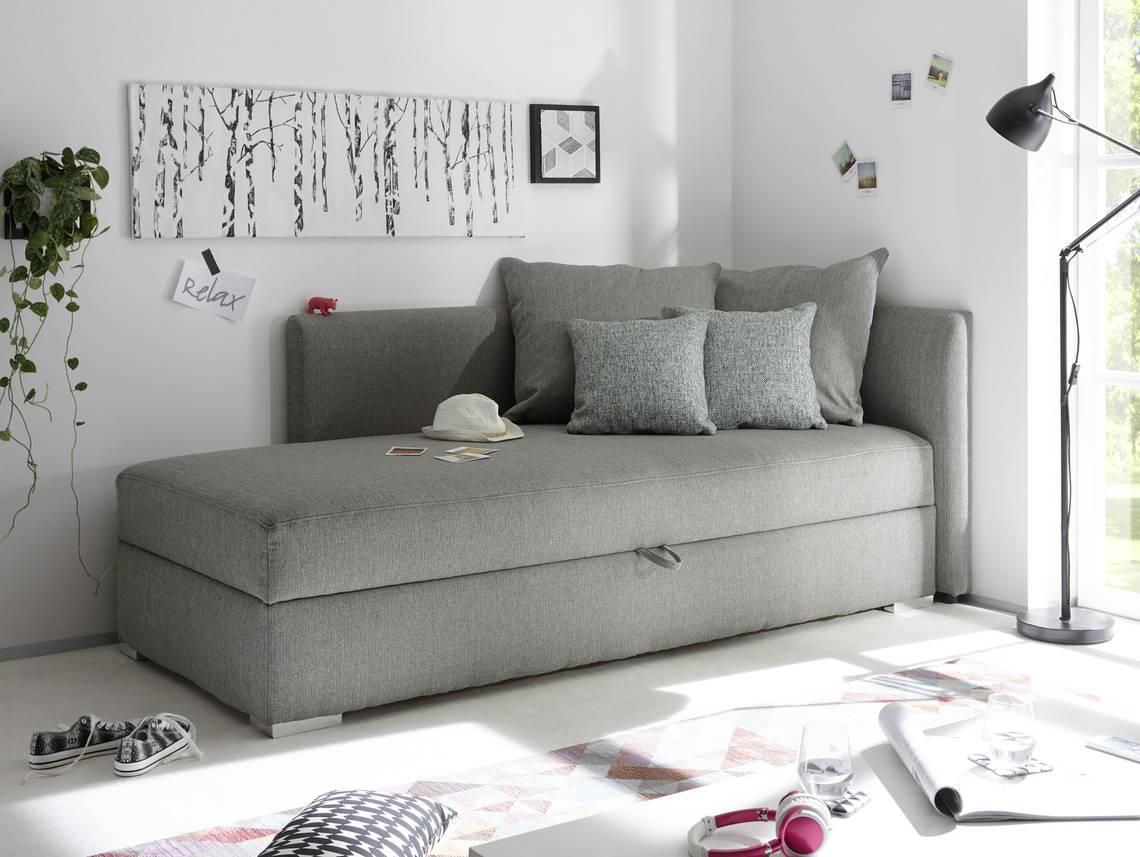 madlen sofaliege schlafsofa mit bettkasten silver. Black Bedroom Furniture Sets. Home Design Ideas