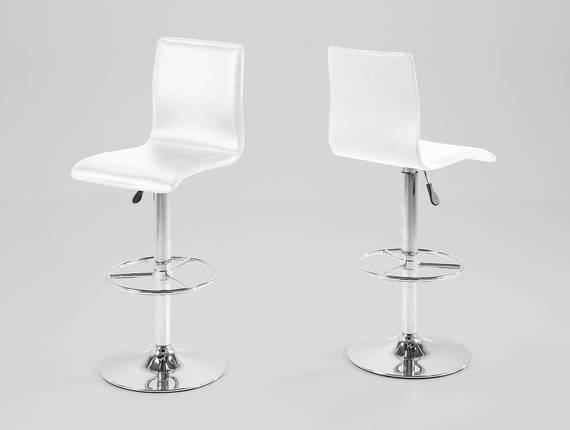 ABENA Barhocker, Material Kunstleder/Metall weiss DETAIL_IMAGE