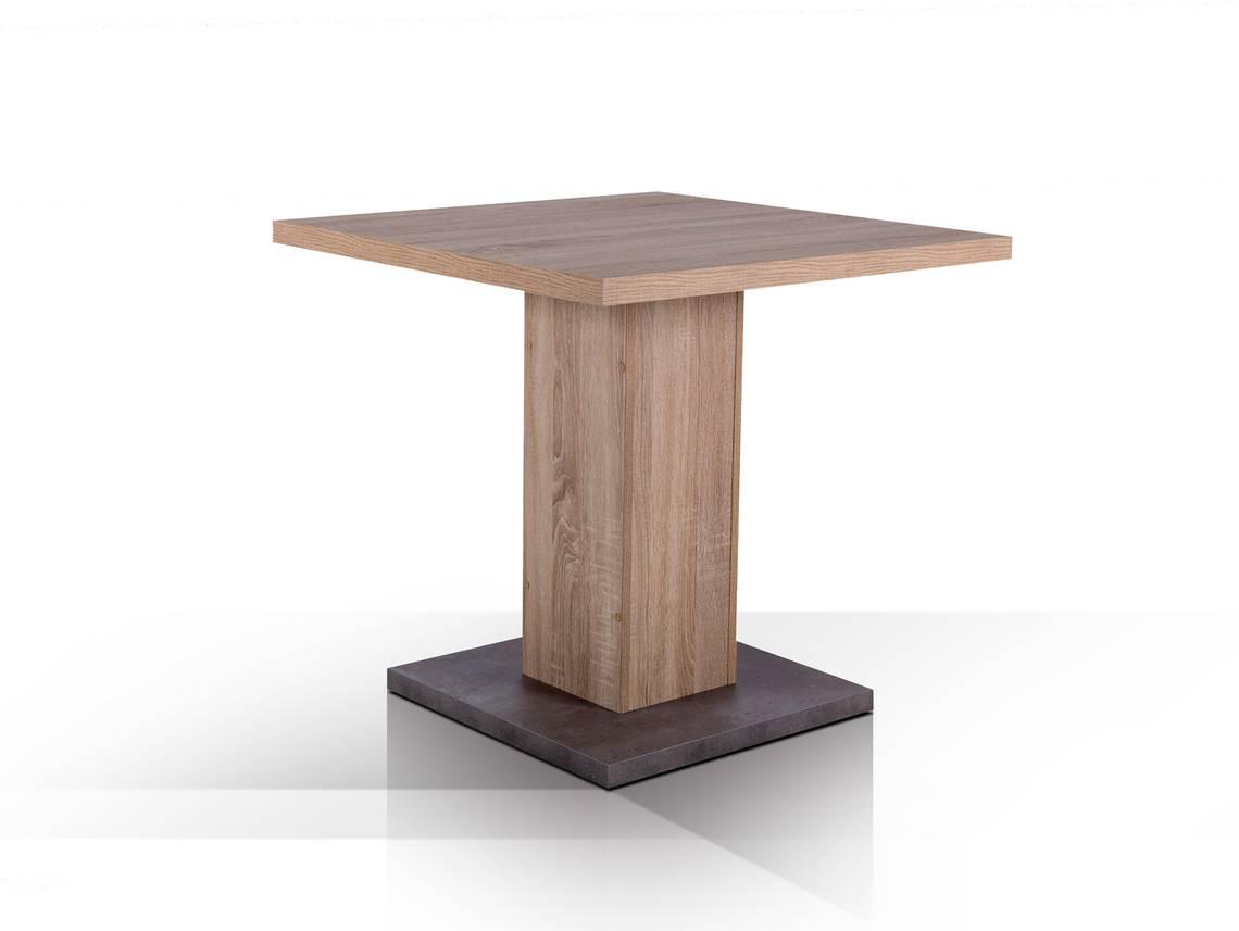 adam esstisch 80x80 cm eiche sonoma beton. Black Bedroom Furniture Sets. Home Design Ideas