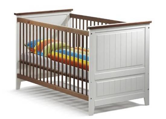 JAMIE Babybett, Material Massivholz, Kiefer/weiss lackiert  DETAIL_IMAGE