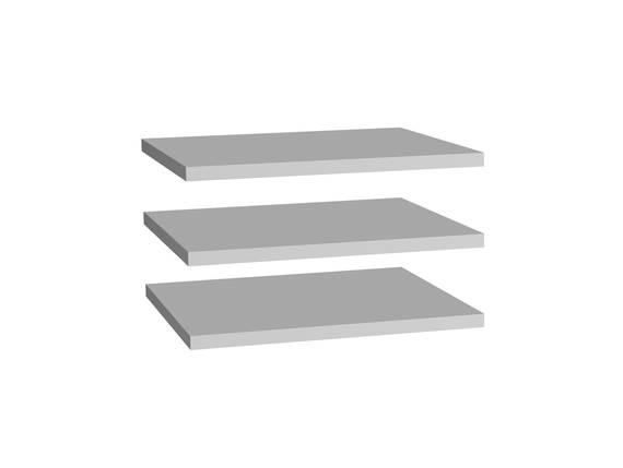 Einlegeböden 3er Set 47,8 cm, grau  DETAIL_IMAGE