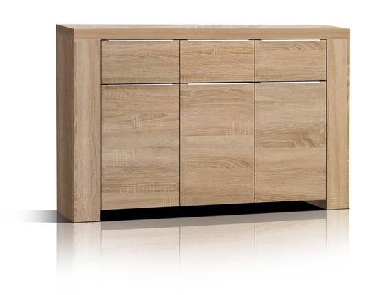CAMILLO Kommode 3 Türen und 3 Schubkasten, Material Dekorspanplatte, Eiche sonomafarbig  DETAIL_IMAGE