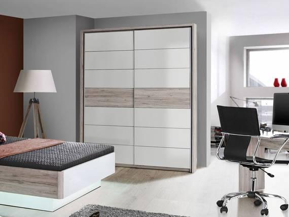 romana schwebet renschrank sandeiche weiss 170 cm. Black Bedroom Furniture Sets. Home Design Ideas