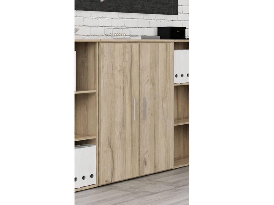 maraun kommode mit 2 t ren eiche bianco. Black Bedroom Furniture Sets. Home Design Ideas