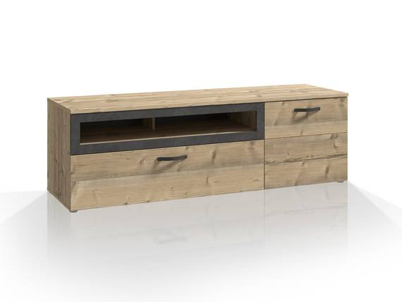 KALIMA TV-Unterschrank, Material Dekorspanplatte, fichtefarbig/betonfarbig  DETAIL_IMAGE