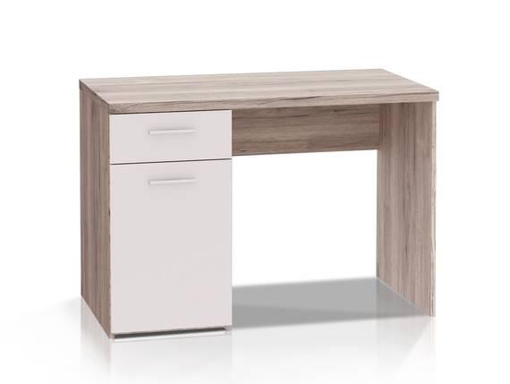 WALDY Schreibtisch, Material Dekorspanplatte, sandeichefarbig/weiss  DETAIL_IMAGE