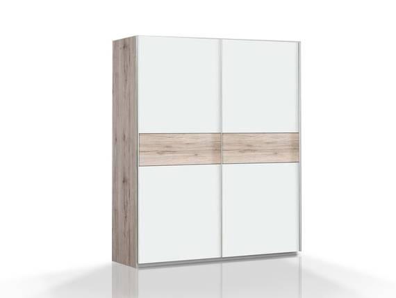 WALDY Schiebetürenschrank, Material Dekorspanplatte, sandeichefarbig/weiss  DETAIL_IMAGE