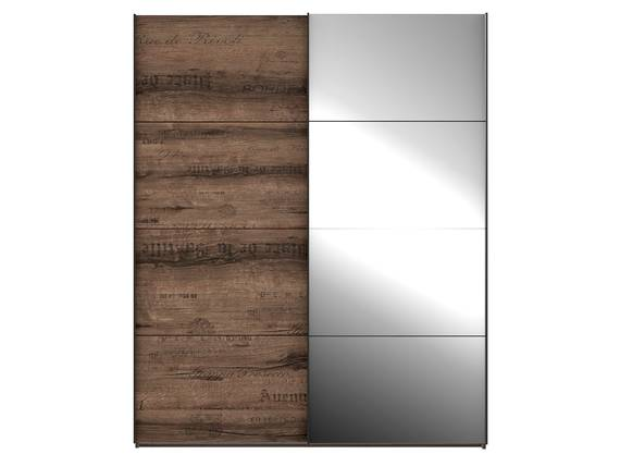 JESOLO Schiebetürenschrank, Material Dekorspanplatte, schlammeichefarbig 170 cm DETAIL_IMAGE