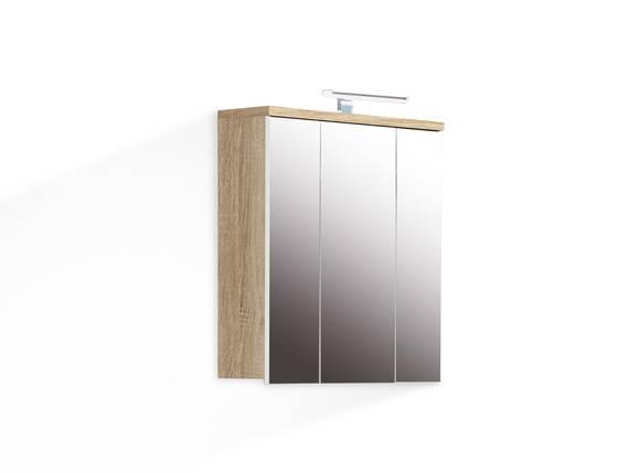 VENETA Spiegelschrank mit Beleuchtung, Material Dekorspanplatte, eichefarbig  DETAIL_IMAGE