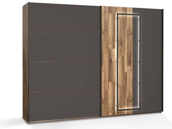 SESTRA Schiebetürenschrank, Material Dekorspanplatte, stabeichefarbig /grau  DETAIL_IMAGE