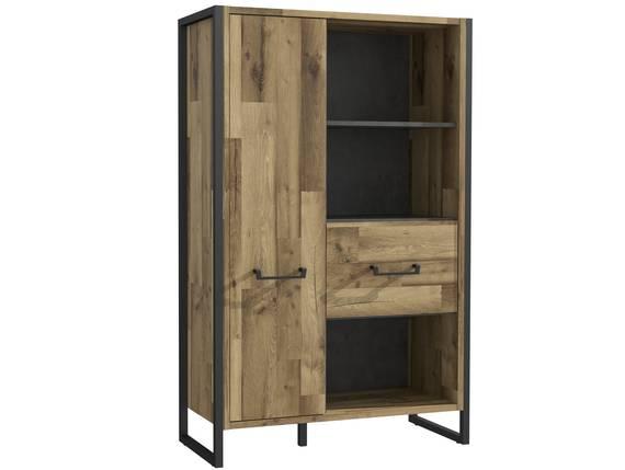 HANIKA Regal/Wohnzimmerschrank, Material Dekorspanplatte, eichefarbig/betonfarbig  DETAIL_IMAGE