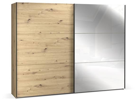 TEMMY Schwebetürenschrank, Material Spanplatte, Artisan Eiche Nachbildung  DETAIL_IMAGE