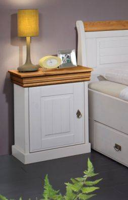 ROMAN Nachttisch, Material Massivholz, Kiefer weiss gewachst/honigfarbig DETAIL_IMAGE