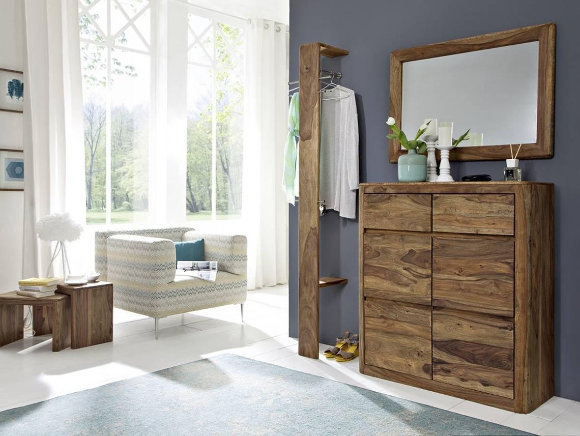 nils iii garderobe sheesham gebeizt. Black Bedroom Furniture Sets. Home Design Ideas