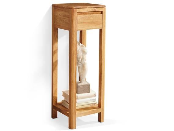 VERONA Blumensäule, Material Massivholz, Wildeiche massiv geölt 90 cm DETAIL_IMAGE