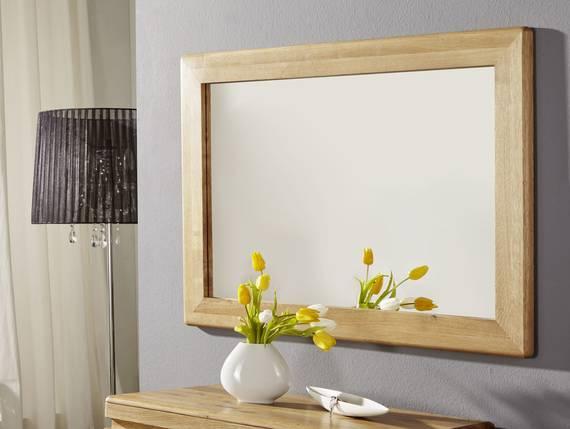 VERONA Spiegel 100x70 cm, Material Massivholz, Wildeiche geölt  DETAIL_IMAGE