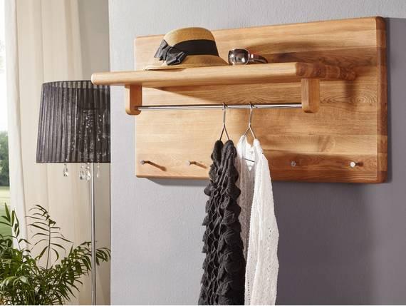 VERONA Garderobenelement, Material Massivholz, Wildeiche geölt  DETAIL_IMAGE