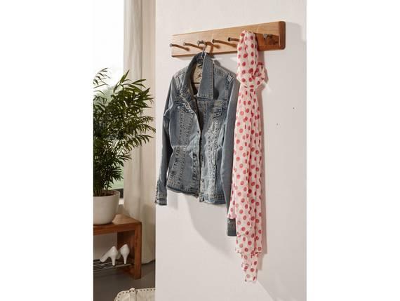 VERONA Garderobenleiste, Material Massivholz, Wildeiche geölt  DETAIL_IMAGE
