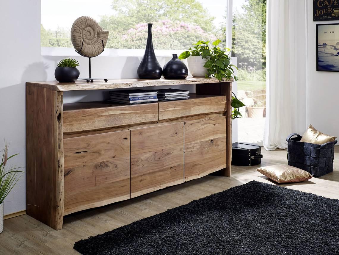 sunny ii sideboard akazie lackiert. Black Bedroom Furniture Sets. Home Design Ideas