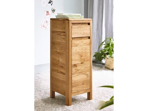 VERONA Kommode mit Tür und Schubkasten, Material Massivholz, Wildeiche geölt 79 cm DETAIL_IMAGE