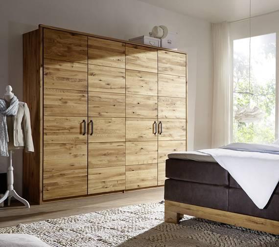 SALVADOR Kleiderschrank 4trg 240 cm, Material Massivholz, Wildeiche gerissen  DETAIL_IMAGE