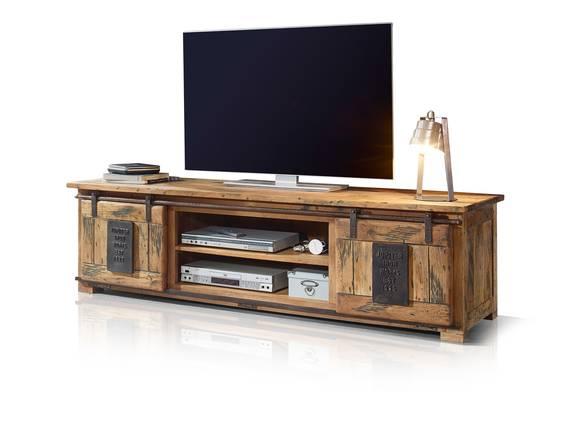 BRISTOL TV-Board I, Material Massivholz, Mango rustikal  DETAIL_IMAGE