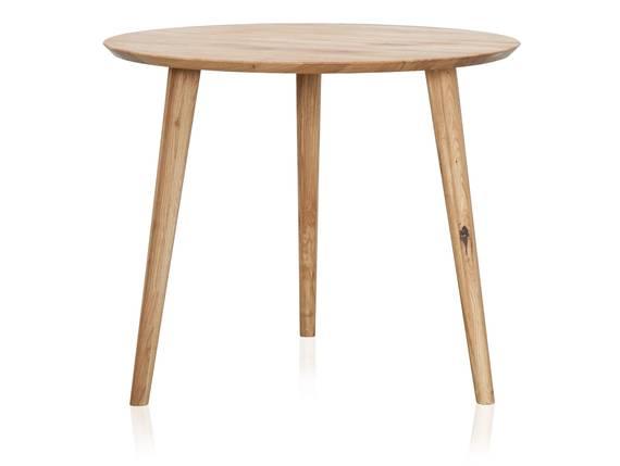 ASCON Esstisch, rund, Material Massivholz, Wildeiche 90 cm DETAIL_IMAGE