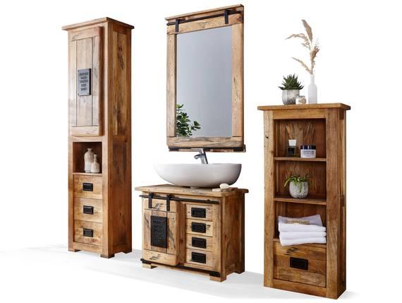 BRISTOL Badezimmerset II, Material Massivholz, Mango rustikal  DETAIL_IMAGE