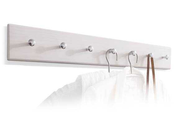 BORNHOLM Garderobenleiste, Material Massivholz, Kiefer weiss/eichefarbig  DETAIL_IMAGE