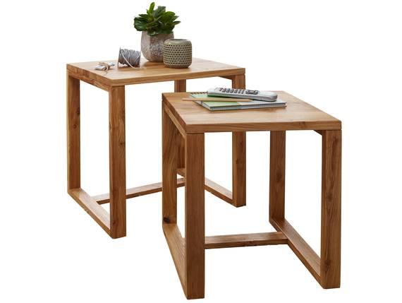 MARITA Zweisatztisch, Material Massivholz, Wildeiche geölt  DETAIL_IMAGE