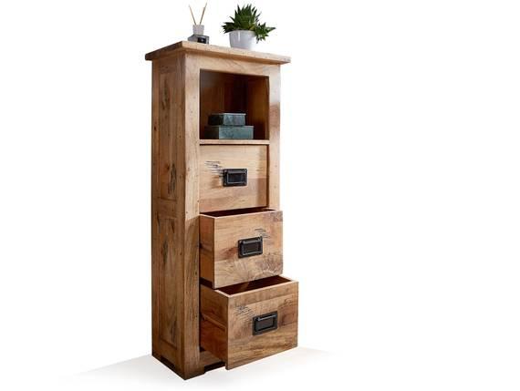 BRISTOL Standregal fürs Badezimmer, Material Massivholz, Mango rustikal  DETAIL_IMAGE