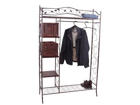 metallgarderobe pulverbeschichtet braun. Black Bedroom Furniture Sets. Home Design Ideas