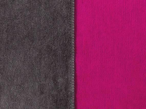 soel tagesdecke doubleface 150x200 cm grau pink. Black Bedroom Furniture Sets. Home Design Ideas
