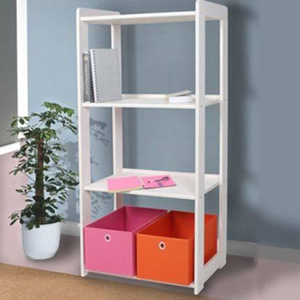 b cherregal kieferregal 4 b den kiefer wei. Black Bedroom Furniture Sets. Home Design Ideas