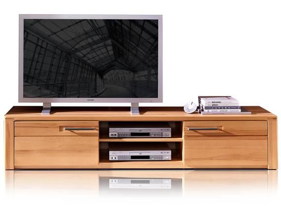 NESTOR PLUS TV-Unterteil 2 Schubkästen+2 Fächer, Material Teilmassiv, Kernbuche lackiert  DETAIL_IMAGE