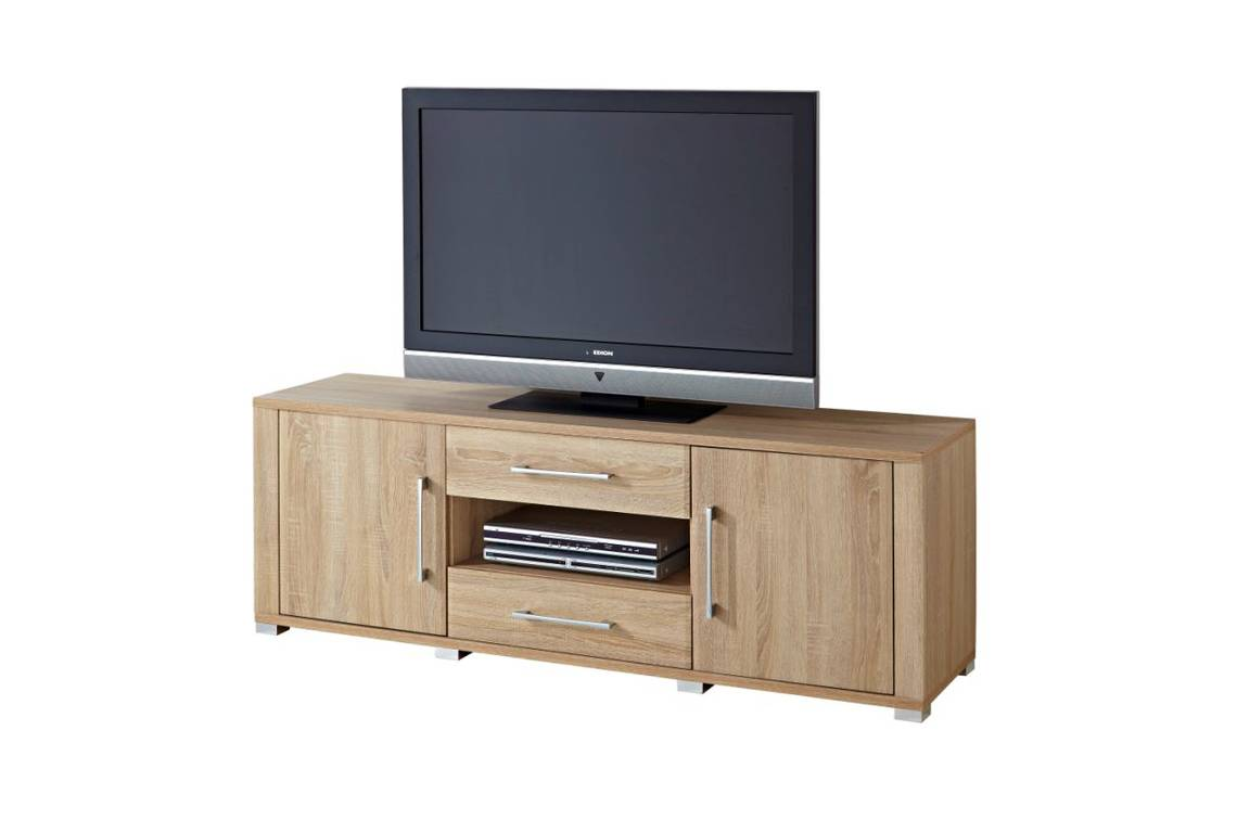 grande tv lowboard sonoma eiche. Black Bedroom Furniture Sets. Home Design Ideas