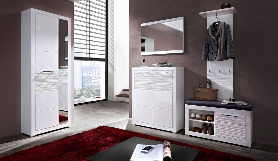 live i garderobenkombi wei wei mdf riffel. Black Bedroom Furniture Sets. Home Design Ideas