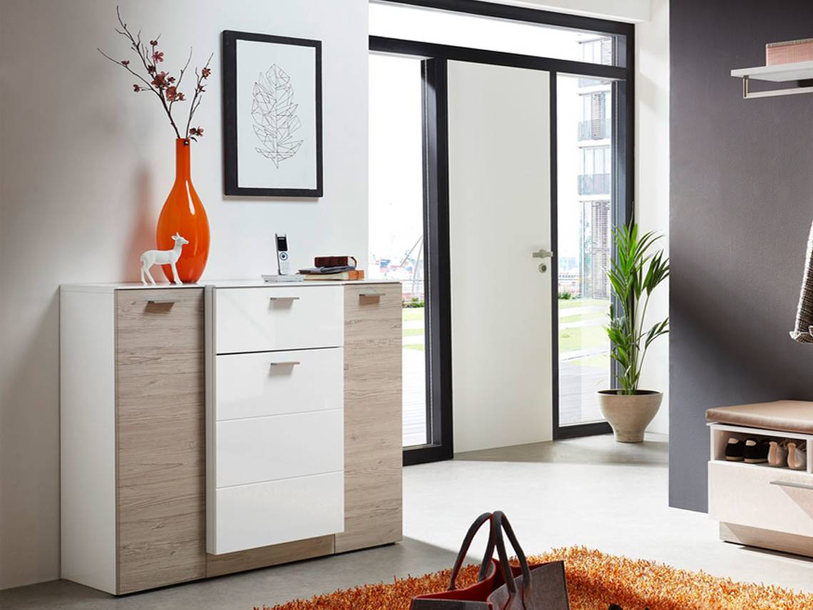 dublin kommode klein wei taupe. Black Bedroom Furniture Sets. Home Design Ideas