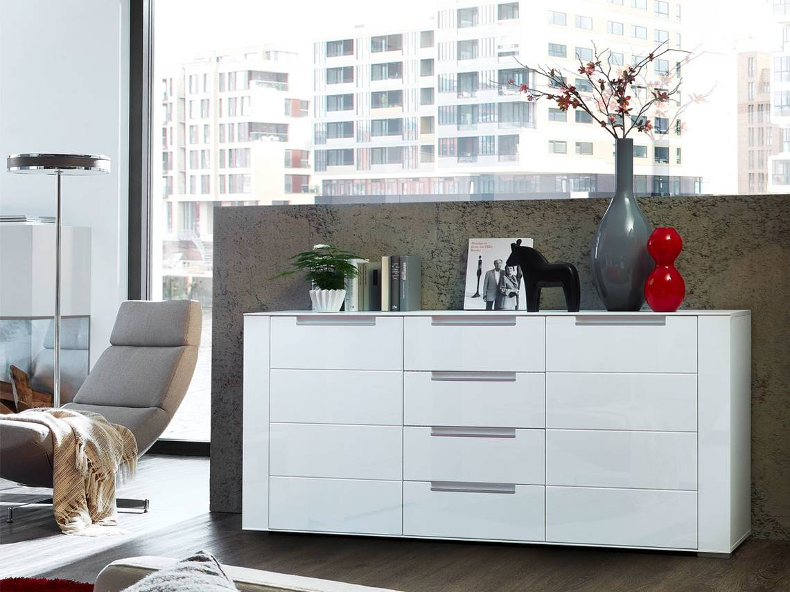 diamo sideboard weiss matt. Black Bedroom Furniture Sets. Home Design Ideas