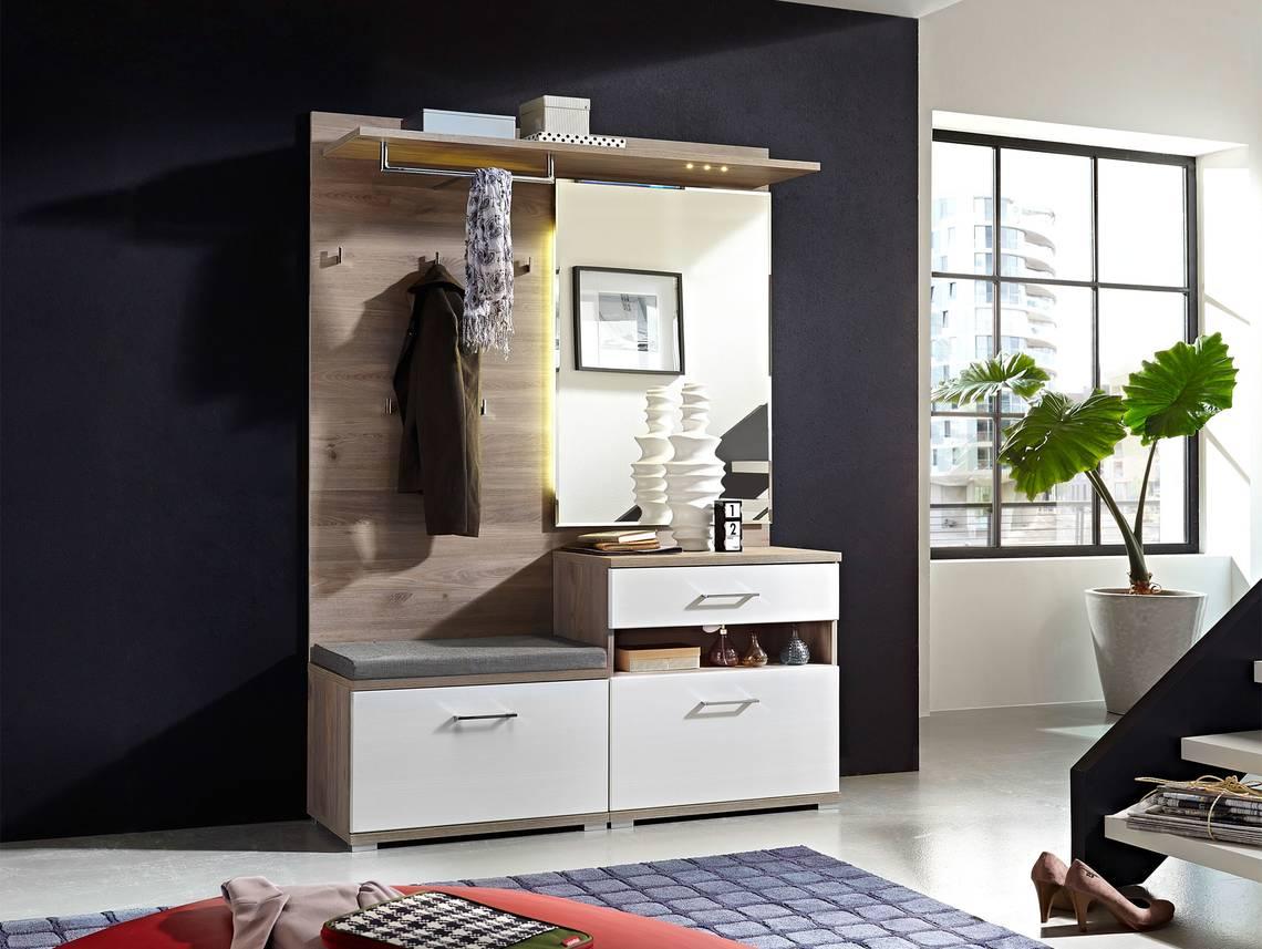 Piano i garderobe silbereiche wei for Garderobe komplett programme