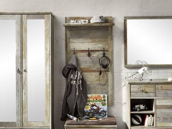 BALI II Garderobenpaneel, Material Dekorspanplatte, braun  DETAIL_IMAGE