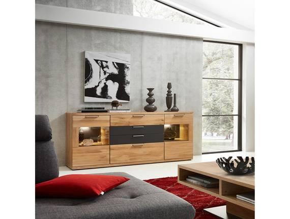 BIANCA Sideboard, Material Teilmassiv, Wildeiche  DETAIL_IMAGE