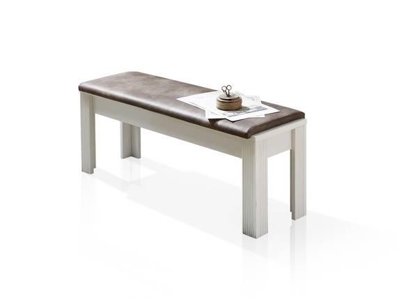 JADY Sitzbank mit Polsterung, Material MDF piniefarbig hell/eichefarbig DETAIL_IMAGE