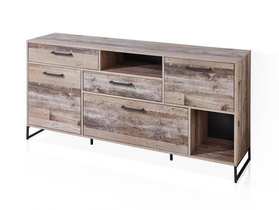RAMINA Sideboard,Material Dekorspanplatte, Used Style braun/anthrazit  DETAIL_IMAGE